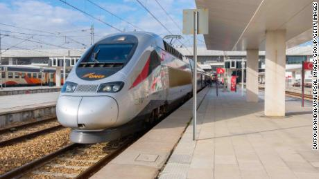 A high-speed train was introduced in Morocco three years ago.