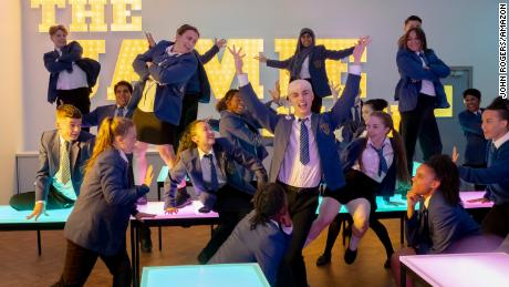 """Newcomer Max Harwood (center) stars in """"Everybody's Talking About Jamie."""""""