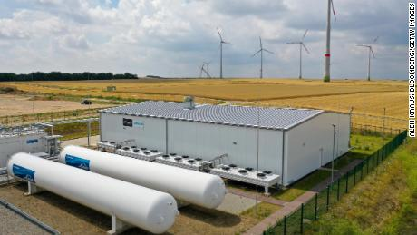 A hydrogen electrolysis plant operated by Linde AG in Mainz, Germany on July 17, 2020.
