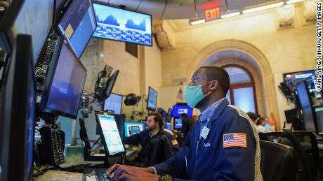 Operadores en la Bolsa de Valores de Nueva York en agosto.