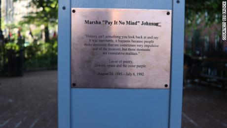The plaque on Johnson's bust remembers her as a lover of poetry, flowers, space and the color purple.