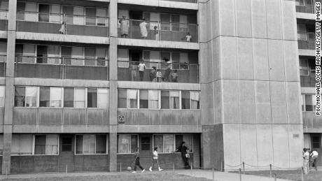 Cabrini-Green, pictured in 1966, was a Chicago Housing Authority public housing project in the Near North Side of Chicago.