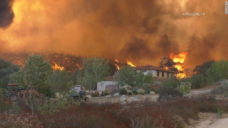 New wildfire in California forces evacuations and grows to 1,200 acres in less than 6 hours