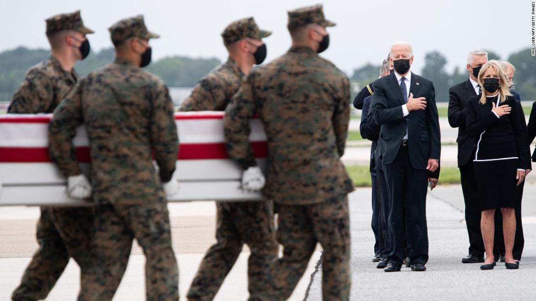 Fact check: Conservative tweeters falsely claim Biden didn't show up at Dover to honor troops' remains – CNN