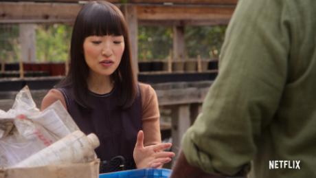 """""""Sparking Joy avec Marie Kondo"""" récemment revenu sur Netflix."""