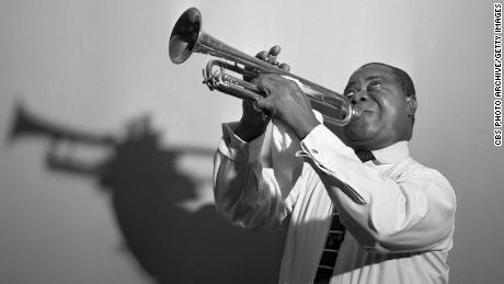 Jazz icon Louis Armstrong in an  image dated August 30, 1954.