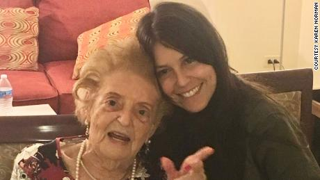 Karen Norman with her great-aunt, who was known as Fela and who died in December  aged 103.