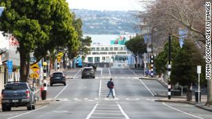 A deserted Parnell Rise as Aucklanders wake to an extended level 4 lockdown on August 24, 2021.