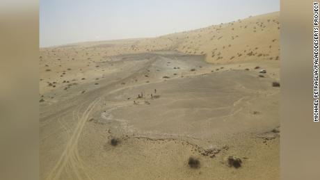 أظهر مكان يسمى نداء أمازون 4 في شمال المملكة العربية السعودية بقايا البحيرات القديمة.
