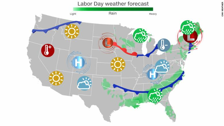 Parts of the US will feel more like fall for Labor Day weekend