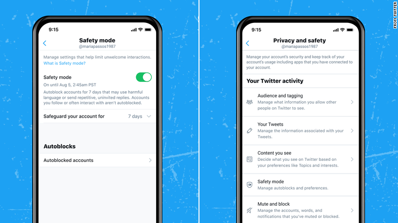"""Twitter is testing a new """"Safety Mode"""" that aims to help users prevent unwanted or harmful tweets, replies or DMs."""