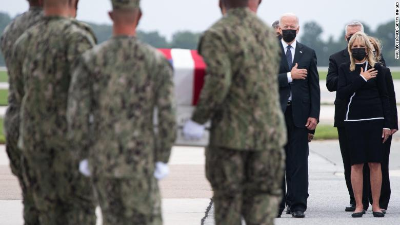 Amid turmoil and grief, Jill Biden travels to visit face-to-face with military families