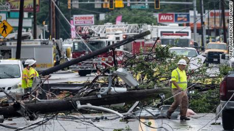 Tornado damage in Annapolis, Maryland, September 1.