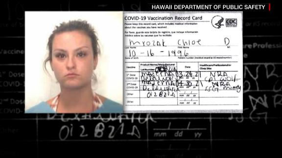 Image for Woman arrested for fake vaccine card. See how she was caught
