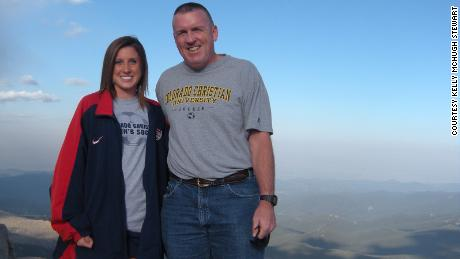 Kelly and her father, John McHugh, visit Mount Evans, Colorado, during Kelly's freshman year of college in 2009.