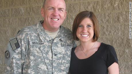 Kelly and her father, John McHugh, following his return from Kuwait in the Summer of 2008.