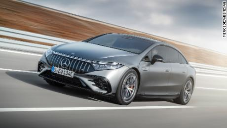 The Mercedes-AMG EQS has specially designed high-performance electric motors.
