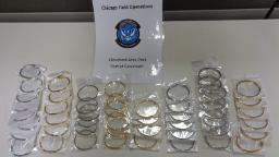 Customs officers seize counterfeit jewelry that if genuine would have been worth $5.2 million