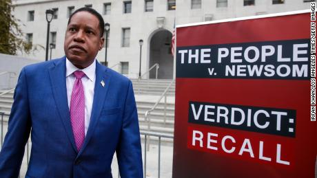 Republican gubernatorial candidate Larry Elder at a news conference earlier this month in Los Angeles.