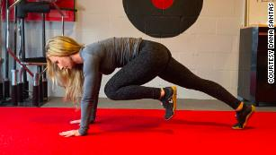 Doing mountain climbers is a high-intensity activity that will get your heart pumping.