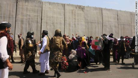 Women's protest in Taliban-controlled Kabul turns violent