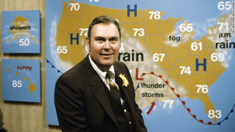 """<a href=""""https://www.cnn.com/2021/09/04/entertainment/willard-scott-death/index.html"""" target=""""_blank"""">Willard Scott,</a> the former longtime weatherman for """"Today"""" who was known for his outgoing, jovial personality, died at the age of 87, according to the NBC show on September 4."""