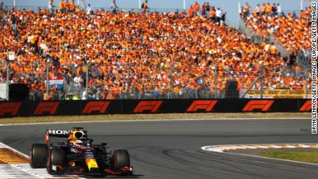 Verstappen had the backing of passionate home support at Zandvoort.