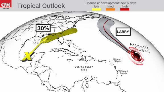Image for Possible tropical development in the Gulf