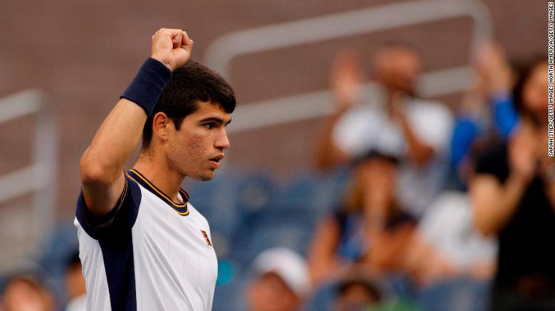 Teenager Carlos Alcaraz becomes youngest player in Open era to reach men's US Open quarterfinals