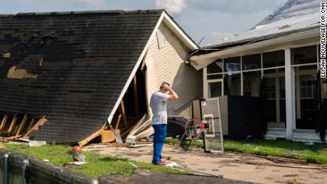 John Lewis surveys his damaged home in LaPlace. With 29,000 residents living between New Orleans and Baton Rouge, LaPlace was among the places hit hardest by Ida.
