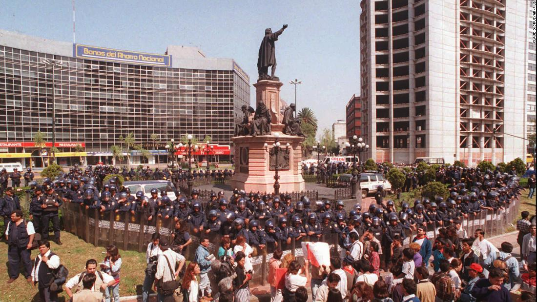 A statue of Christopher Columbus in Mexico City will be replaced by one of an Indigenous woman