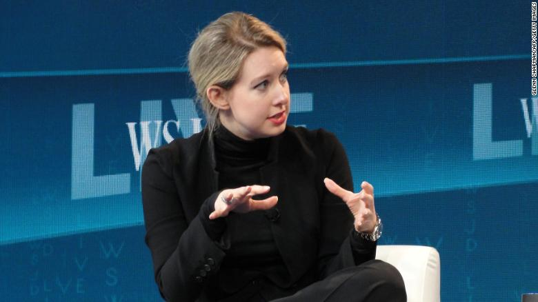 Holmes speaking at a Wall Street Journal technology conference in Laguna Beach, California on October 21, 2015.