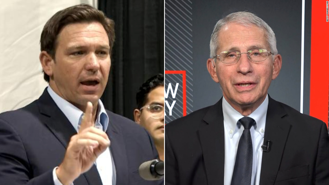 'Completely incorrect': Dr. Fauci pushes back on DeSantis' vaccine claim - CNN