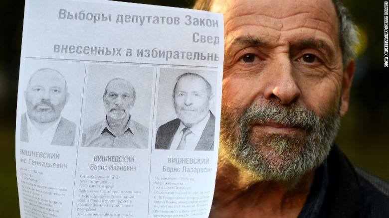 Russian politician faces two near-identical opponents in election