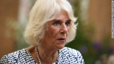 Camilla, Duchess of Cornwall speaks during an event in June.