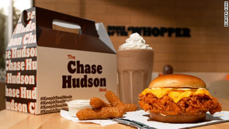 Here is Lil Huddy's meal, which goes on sale Sunday.