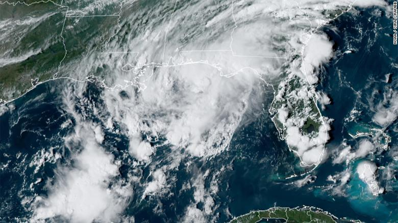 Tropical Storm Mindy forms in Gulf of Mexico and forecasters issue storm warnings for Florida Panhandle