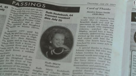 Jim Rodebush's wife Ruth died of Covid-19 in July.
