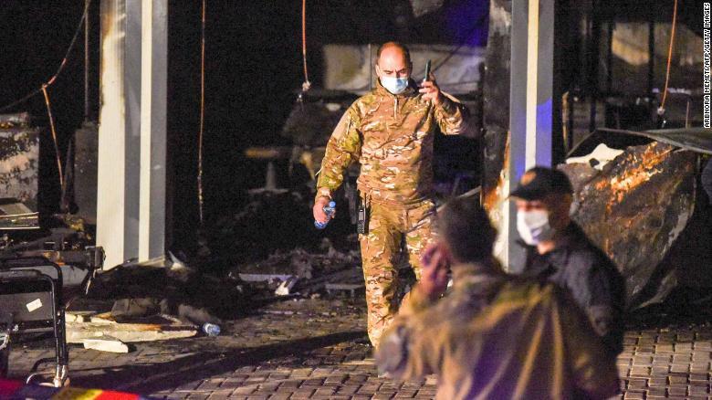 Fire in North Macedonian Covid-19 hospital kills 14 people