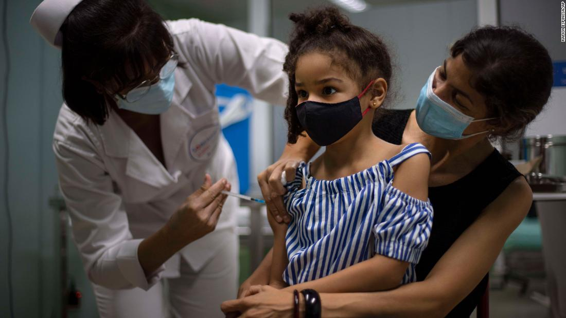 Cuba vaccinates children as young as 2 in strategy to reopen schools, economy