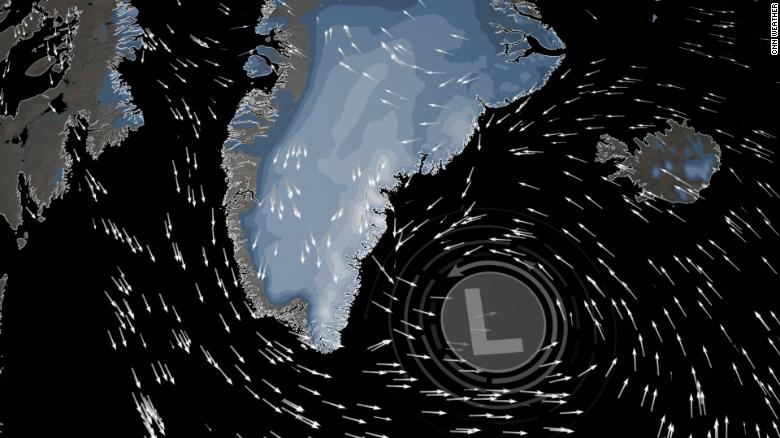 Hurricane Larry could bring feet of snow to Greenland.