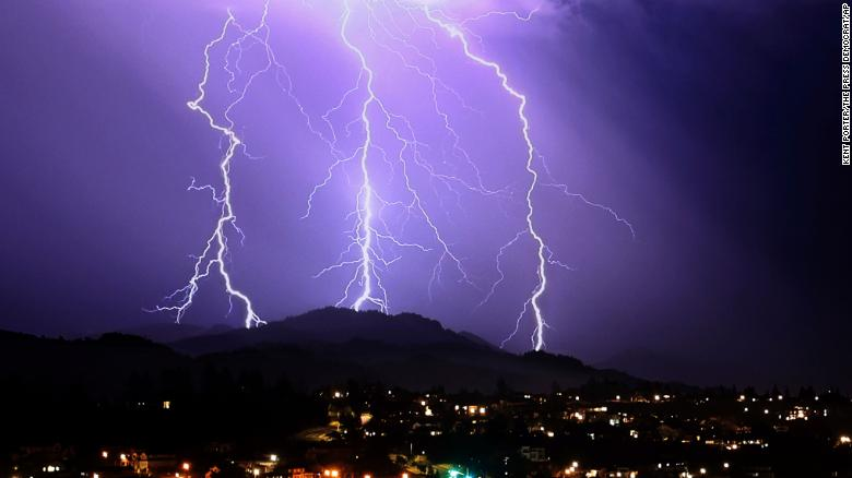 Over 1,000 lightning strikes occurred overnight in California, igniting new wildfires