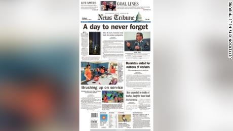 September 11 affected the entire nation. Here's how local newspapers are covering the 20th anniversary