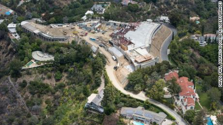 Construction begins on the mega mansion built by Nile Niami, in Bel Air, California, in May 2015.