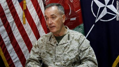Marine Gen. Joseph Dunford, who commanded the US-led International Security Assistance Force (ISAF) in Afghanistan, spoke during an interview with The Associated Press at the ISAF headquarters in Kabul in August 2013.
