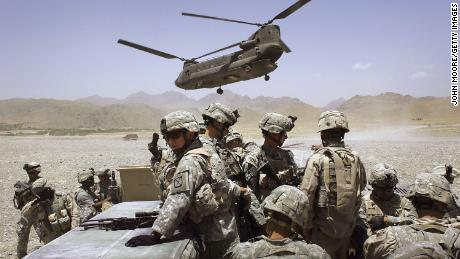 US soldiers deploy to a base in the Afghan province of Zabul to fight Taliban militants in June 2006.