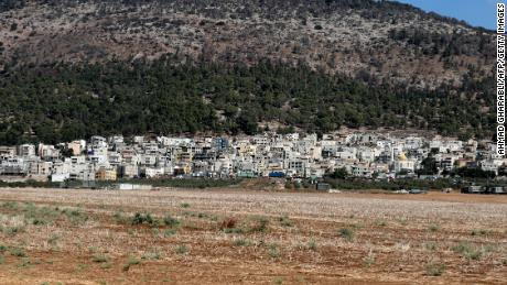 The village of Umm Al-Ghanam where two of the six escapees were recaptured by Israeli police on September 11, 2021.
