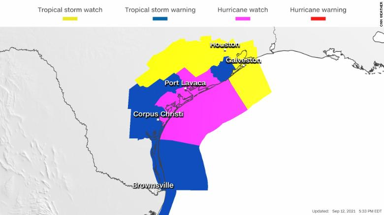 Texas Coast Under Hurricane Watch as Tropical Storm Nicholas Gains Strength