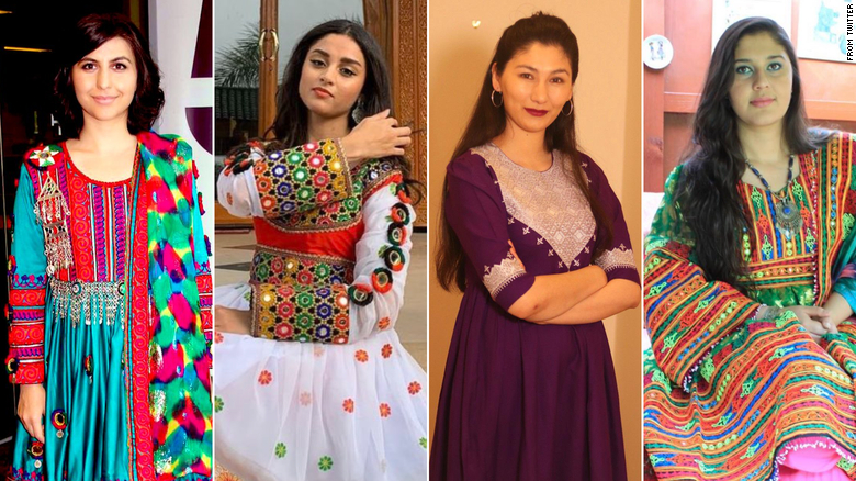 Afghan women are sharing photos of dresses to protest the Taliban's black hijab mandate