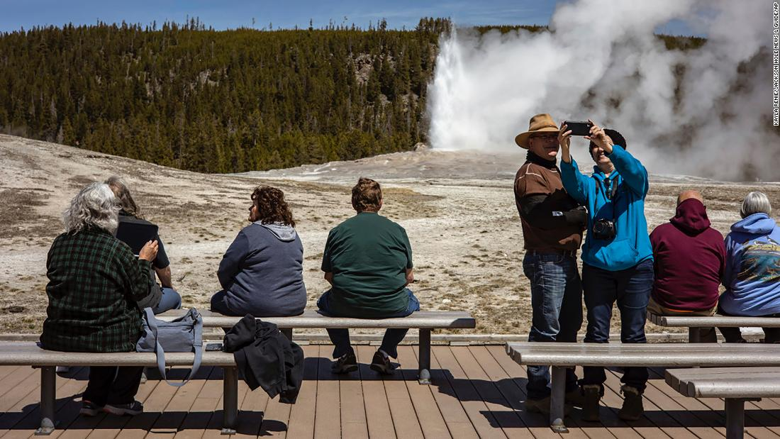 An astounding number of people flocked to Yellowstone in August — enough to set a record